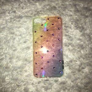 CYLO Rainbow Rhinestone Iphone 8 plus Case
